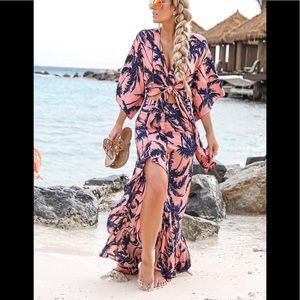 Beach set. Tie top and flowy skirt